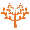 leafy, leafy plant, pyramidal form, tree icon