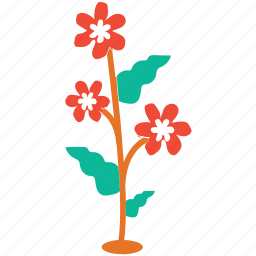 flowering plant, generic, plant, polka flowers icon