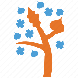flowers on tree, generic, irregular, tree icon
