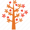 dogwood, nature, spring tree, tree icon