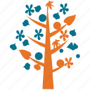 generic tree, leafy, tree, tree of flowers icon