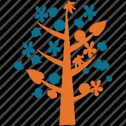 generic tree, leafy, tree, tree of flowers icon