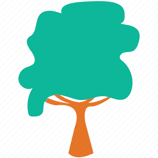 generic tree, shrub, summer tree, tree icon