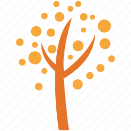 dotted leafs, generic tree, open form, tree icon