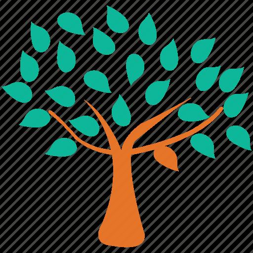 generic, spreading, spring tree, tree icon
