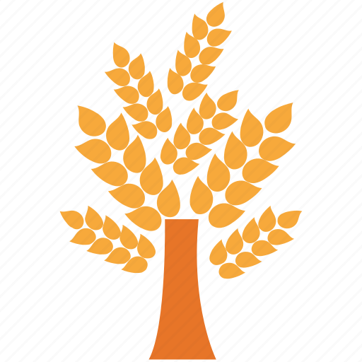 ears of wheat, generic, summer tree, tree icon