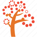 dotted leafs, generic, spring tree, tree icon
