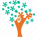 dogwood, flowering tree, spring tree, tree icon