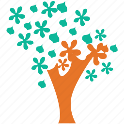 dogwood, flowering tree, spring tree, tree icon