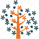 dogwood, ecology, nature, tree icon