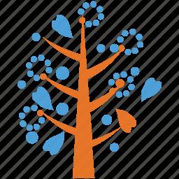 heart leaf, nature, tree, tree of flowers icon
