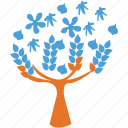 leafy tree, leaves, spring tree, tree icon