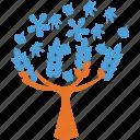 leafy tree, leaves, spring tree, tree icon