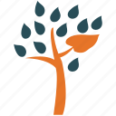 leafy, leafy tree, nature, tree icon