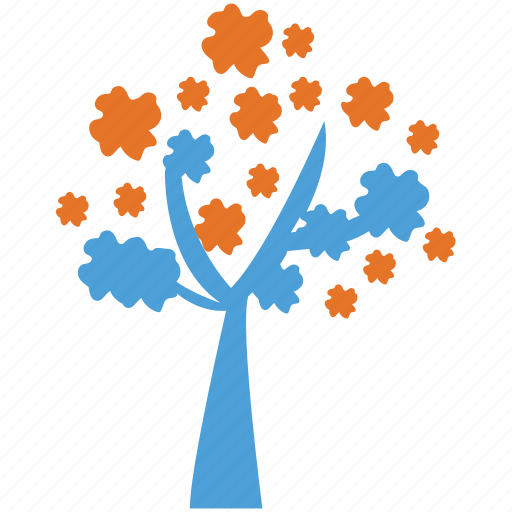flowers on tree, generic, spreading, tree icon