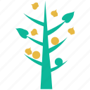generic, leafy, small tree, tree icon