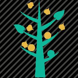 generic, leafy, small tree, tree icon