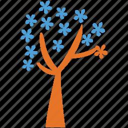 dogwood, generic, spring tree, tree icon