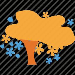 autumn tree, fall in tree, shrub, spreading icon