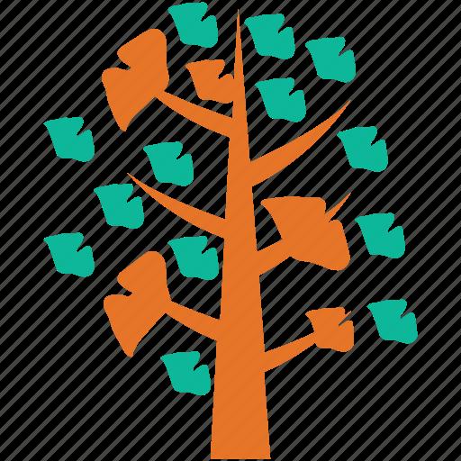 leafy, nature, symmetrical, tree icon