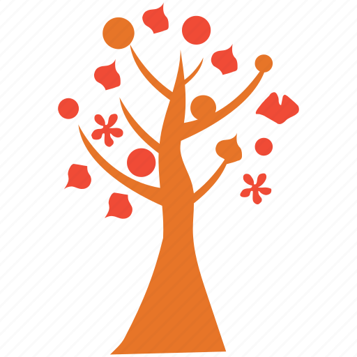 flowers and leafs, generic, spring tree, tree icon