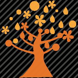 magnolia, nature, spreading, tree icon