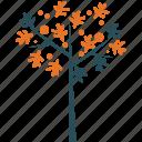 dogwood, generic, leafy, spring tree icon