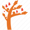 autumn tree, fall in, generic, tree icon