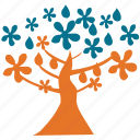 magnolia, spreading, spring tree, tree icon