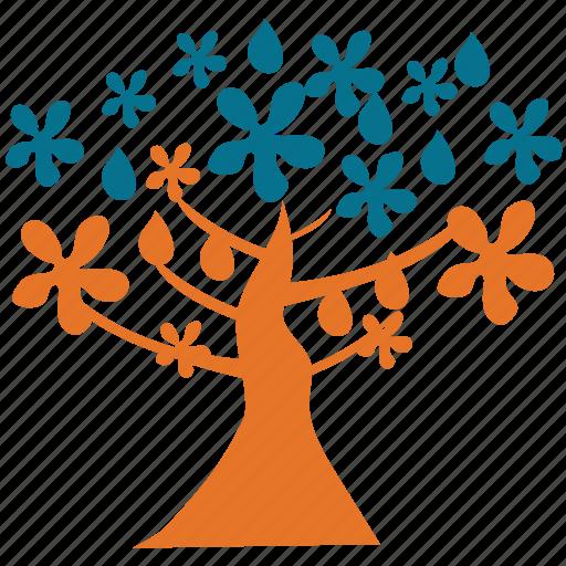 magnolia, spreading, spring tree, tree icon