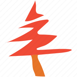 abstract tree, christmas tree, irregular line, tree icon