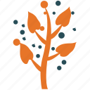 leaves, leaves with dots, nature, plant icon