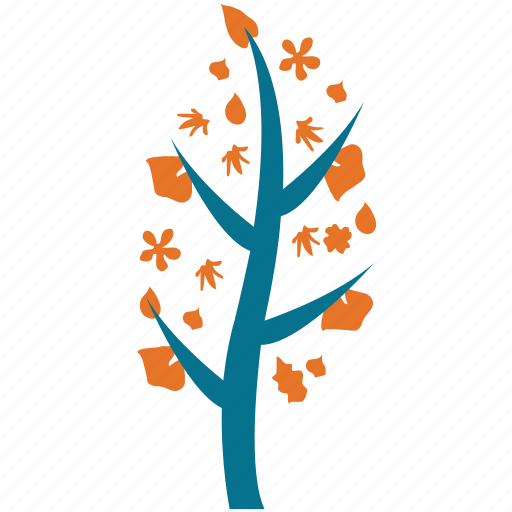 generic, leafy, leaves and flowers, tree icon