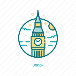 bigben, england, landmark, london, tower, travel, trendy icon