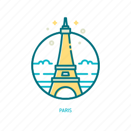 eiffel, french, landmark, paris, tower, travel, trendy icon