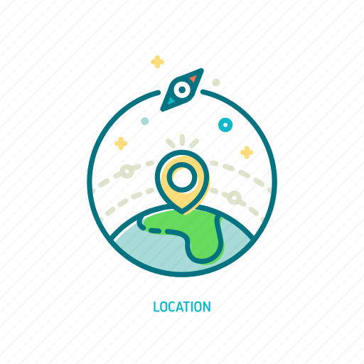 destination, journey, location, marker, navigation, positioning, trendy icon