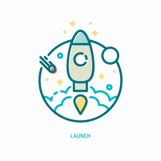 ambition, dream, future, launch, rocket, science, trendy icon