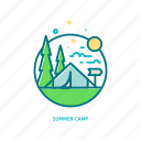adventure, camp, nature, outdoor, summer, travel, trendy icon