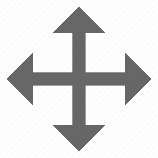 arrow, compass, direction, move, resize, size icon