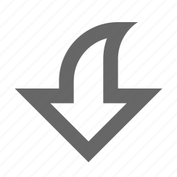 arrow, bottom, direction, down, download, south icon