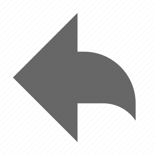 arrow, back, direction, left, previous, reply, west icon