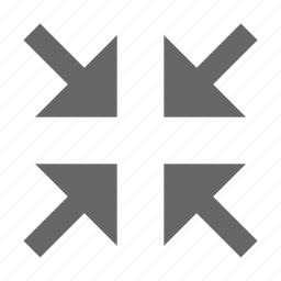 arrow, collapse, condense, corners, exit fullscreen, minimize, shrink icon
