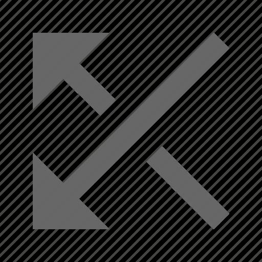 arrow, direction, media, mix, multimedia, random, shuffle icon