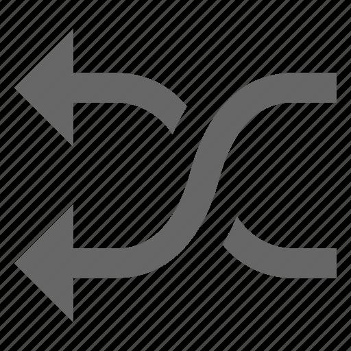 media, multimedia, random, shuffle, swap, switch, twist icon