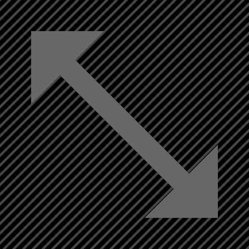 corners, diagonal, expand, fullscreen, maximize, move, resize icon