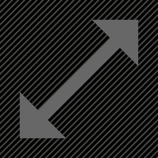 arrow, diagonal, expand, fullscreen, maximize, move, resize icon