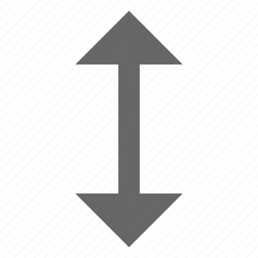 arrow, direction, expand, height, north south, resize, up down icon