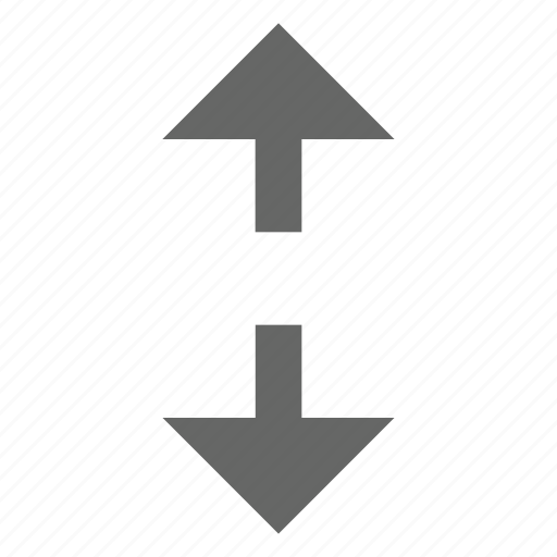arrow, direction, height, move, north south, resize, up down icon