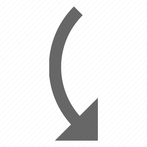 arrow, back, direction, down, reverse, rotate, turn icon