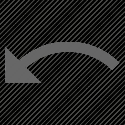 arrow, back, left, previous, reverse, rotate, undo icon